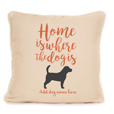 More details for gift for dog beagle cushion personalised home is where present for owner lover