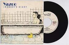"""YAZOO - NOBODY'S DIARY / STATE FARM  45 giri 7"""" MUTE MUT 10486 1983 IT"""