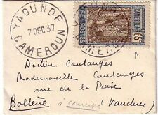 CAMEROUN - YAOUNDE - 65c N°122 - SEUL / MIGNONETTE DU 7-12-37 - COTE MAURY 100€