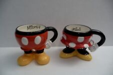 Disney Parks Mickey & Minnie Mouse Pants, Skirt Ceramic Coffee Cup Mugs Gift Set