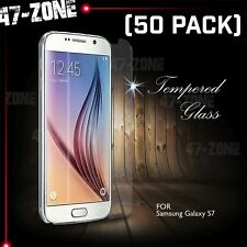 For Samsung Galaxy S7 Premium HD Clear Tempered Glass Screen Protector 50 PC