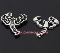 P788 10pc Tibetan Silver lobster Charm Beads Pendant accessories wholesale