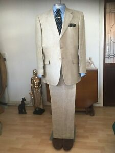 Brook Tavener Mens Linen Suit