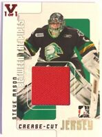 2007-08 Between The Pipes Crease-Cut Jersey Steve Mason Vault Red 1/1 #CCJ-22