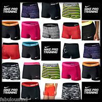 "Women's Nike Pro Dri-Fit 3"" Spandex Compression Shorts XS-XL NWT FREE SHIPPING"