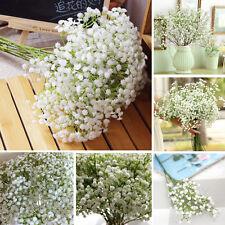 20Pcs Artificial Baby's Breath Fake Silk Flower Home Wedding Garden Decoration