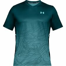 Under Armour Men's Forge V-Neck Patterned Lightweight Breathable Tennis T-Shirt