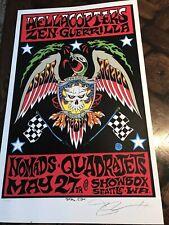 1999 artist ALAN FORBES silkscreen Concert POSTER Hellacopters @ Showbox Seattle