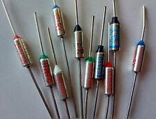 100pcs Microtemp Thermal Fuse 216℃ 420.8℉ Cutoff 250V 10A SF214E