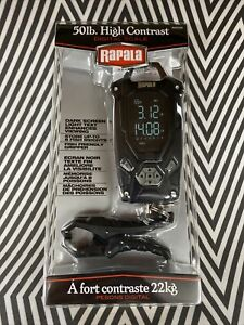 Rapala High Contrast Hanging Water Resistant Digital Scale 50lb - FAST SHIPPING!