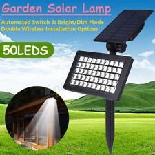 50 LED Solar Power Spotlight Garden Lawn Lamp Landscape Lights Waterproof Yard