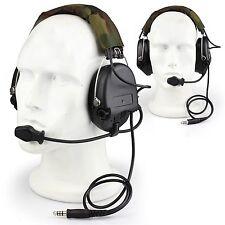 Tactical MSA SORDIN Boom Mic Noise Cancellation Headset Airsoft Hunting EarMuff