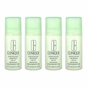 4 PCS Clinique Antiperspirant Deodorant Roll-On 2.5oz,75ml Bath & Body Care