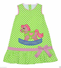 Spotted 100% Cotton Dresses (0-24 Months) for Girls