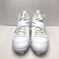 NIKE Men's Force Air Mike Trout 6 Pro White Baseball Cleats AR9815-100 Size 8.5