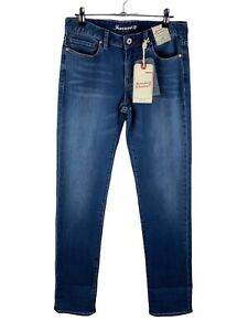 Jeanswest 72 NWT Stretch Denim Jeans Womens Size 10 Blue Slim Straight Zip Close