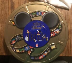 1997 The Wonderful World Of Disney Trivia Game In Collector's Tin