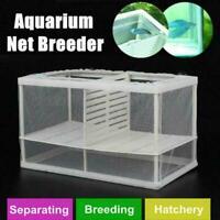 Fish Tank Aquarium Net Case Fry Hatchery Breeder Breeding CL Incubator Isol V0B3