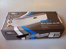 Sweex Go Sound bar, estéreo 2.1 portátiles altavoces en plata, USB, nuevo