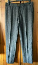 GIBSON London Vintage Men's Size 36 Waist Regular Grey Suit Trouser Wool Mix