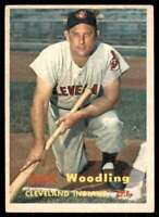1957 Topps Set Break2 Vg EX Gene Woodling Cleveland Indians #172