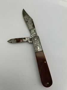 Vintage Kabar 1013 Bone Handle Two Blade Pocket Knife