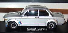 MINICHAMPS  155026201 , BMW 2002 Turbo - 1973  silber - 1:18