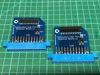 COMMODORE C64 User Port breakout board / project board V2.0 W/ Reset