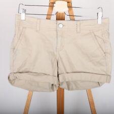 Aeropostale Khaki Casual Shorts Womens 6 Midi Twill