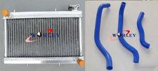 For Honda TRX250R TRX250 1988 1989 88 89 Aluminum Radiator + silicone hose blue