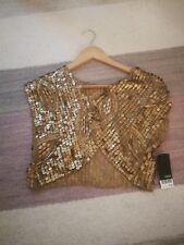 Brand new Next gold sequin shrug - size medium/12