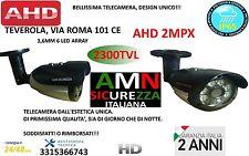 TELECAMERA VIDEOSORVEGLIANZA AHD 2MPX 3,6mm ALTA QUALITA' 6 LED ARRAY INFRAROSSI