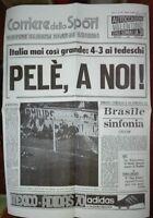 17 GIUGNO 1970*ITALIA GERMANIA 4-3* PELE' A NOI * VERSO LA FINALISSIMA *POSTER