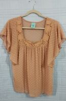 HIP happening in the present womens size medium beige top