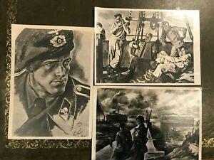 German Third Reich WW2  postcards Deutschen Kunst culture military themes