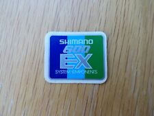 "SHIMANO ""600 EX SYSTEM COMPONENTS"" DECAL/STICKER - NOS"