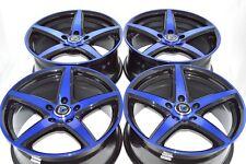 17 blue Wheels CL ILX TL Integra RSX TSX 300M Avenger Talon Eclipse Rims 5x114.3