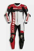 Custom Made Ducati Corse Motorbike Riders Leather Racing Suit