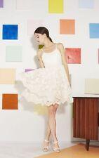 Alice + Olivia Rora Poof Skirt Dress Ivory Lace Overlay Size 8