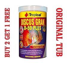 Discus gran D-50 PLUS Alimento completo per CICHLIDS tropicale vera VASCA 250ml / 95 g commettono un