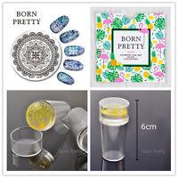 3Pcs/Set BORN PRETTY Nail Art Stamping Image Plates Stamper W/Cap & Scraper Kit