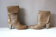 Vic Matie Italy Stiefel Vintage Damen Leder Gr 36,5 leather booties Schuh