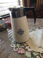 CORNING WARE 9 CUP PERCOLATOR COFFEE POT Vintage Blue Cornflower