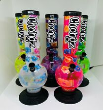 More details for chongz 30cm flower daisy water pipe bong free number 1 grinder & display box