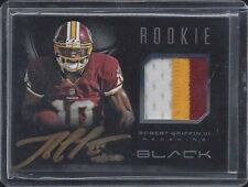 ROBERT GRIFFIN III 2012 PANINI BLACK RPA 3 CLR ROOKIE PATCH ON CARD AUTO RC /349
