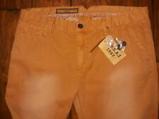 New FUSAI Men's Vintage Cotton Pant NWT 38/32 Rust Color