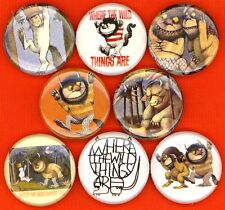 "Where the Wild Things Are 8 NEW 1"" buttons pins badge book movie"