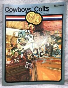 Dallas Cowboys v Baltimore Colts Dec 13 1969 Program GameDay Football NFL Boyle
