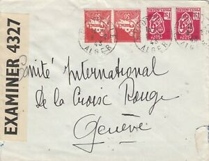 ALGERIA 1943 CENSORED COVER TO GENEVA. Rfno.C103.