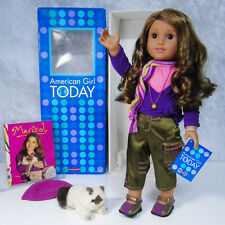 """American Girl 18"""" DOLL MARISOL & MEET OUTFIT BOOK Scarf Cat Hat Accessories BOX"""